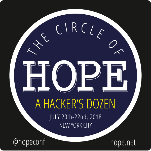 the circle of hope welcome to hackers on planet earth